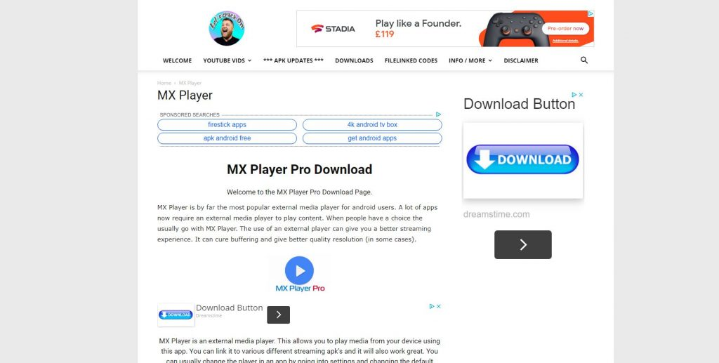 mx player download page
